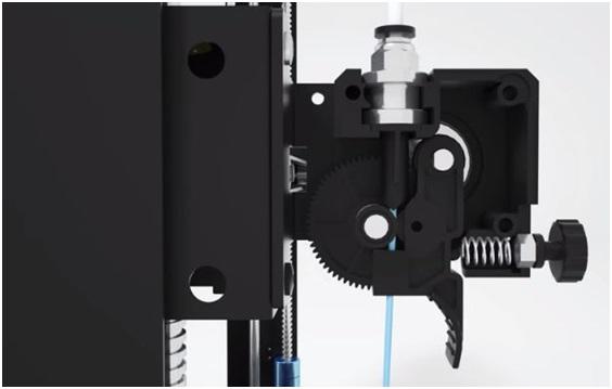Усовершенствованный экструдер для печати гибкими пластиками