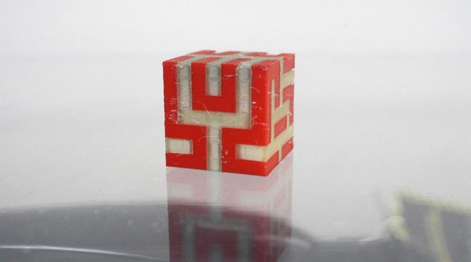 PLA-PVA тестовый кубик