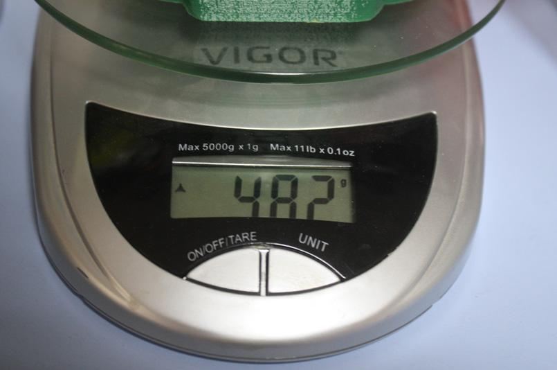 Вес бюста получился почти 500 грамм