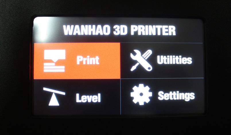 Сенсорный дисплей для управления принтером