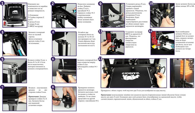 Сборка 3D-принтера Wanhao Duplicator 9